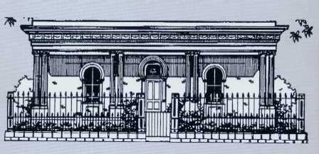 Sketch of facade of the Brunswick Talmud Torah