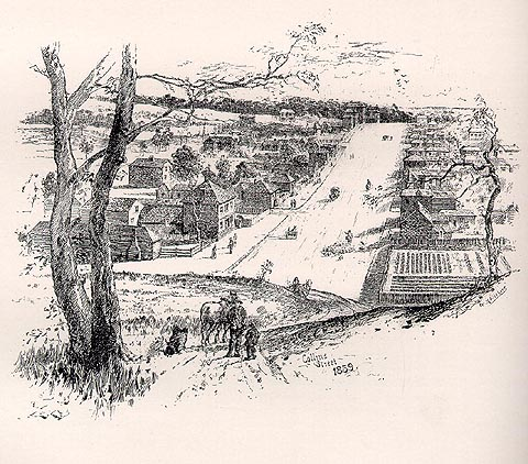 Sketch of the view from what the Paris end of Collins Street,