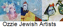 Ozzie Jewish Artists montage of 3 images of Rimona Kedem