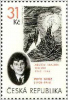 Czek stamp celebrating Peter Ginz